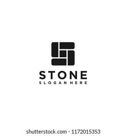 letter S stone logo design