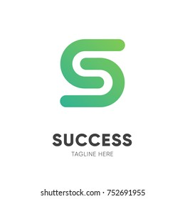Letter S from success logo design