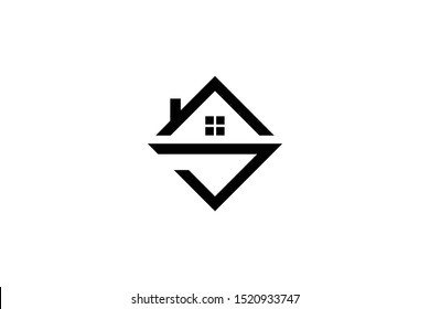 Letter S SV VS in vector for Real Estate , Property and Construction Logo design for business corporate sign. Minimal logo design template on white background.