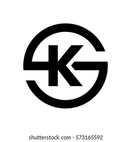 Letter S symbol Combination with K