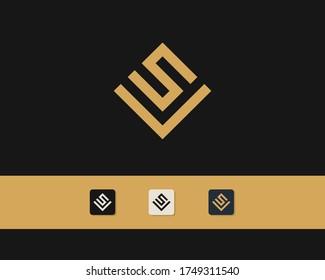 Letter S V logo design. creative minimal monochrome monogram symbol. Universal elegant vector emblem. Premium business logotype. Graphic alphabet symbol for corporate identity