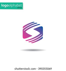 letter S vector template for using as logo
