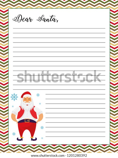 photo about Letter From Santa Printable named Letter Santa Printable Web site Santa Claus Inventory Vector