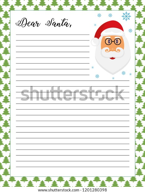 photo about Printable Pictures of Santa Claus called Letter Santa Printable Website page Santa Claus Inventory Vector