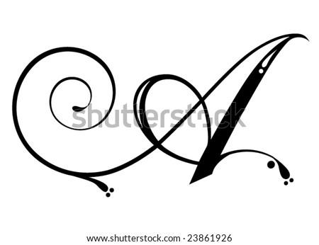 Letter Script Stock Vector (Royalty Free) 23861926   Shutterstock