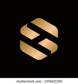 letter sh logo vector template
