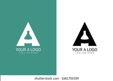 Letter A simple and clean Alcohol logo