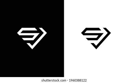 Letter SJ logo. SJ initial monogram logotype. Vector design element or icon