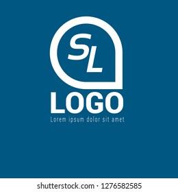 letter SL logo concept. Designed for your web site design, logo, app, UI