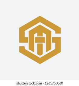 Letter SM Geometric