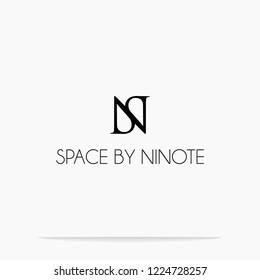 Letter SN design vector logo template