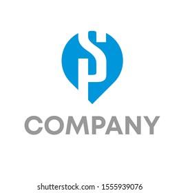 letter SP logo vector design template