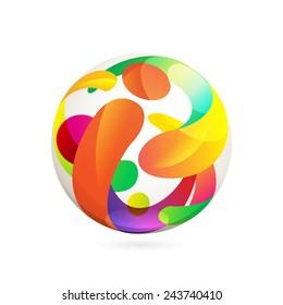I letter sphere volume logo