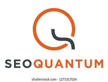 Letter SQ QS for SEO Logo Design Inspiration