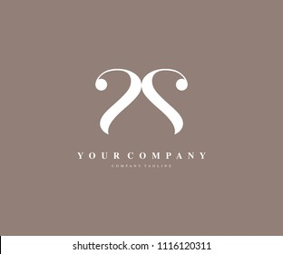 Letter SS Beauty Luxury Logo Design