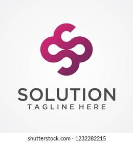 Letter SS logo design