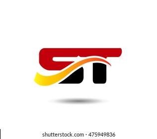 Letter ST Logo