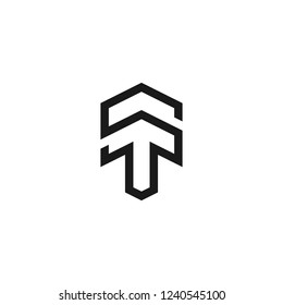 Letter ST logo icon design template elements