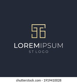 letter ST logo vector modern simple abstract combination concepts