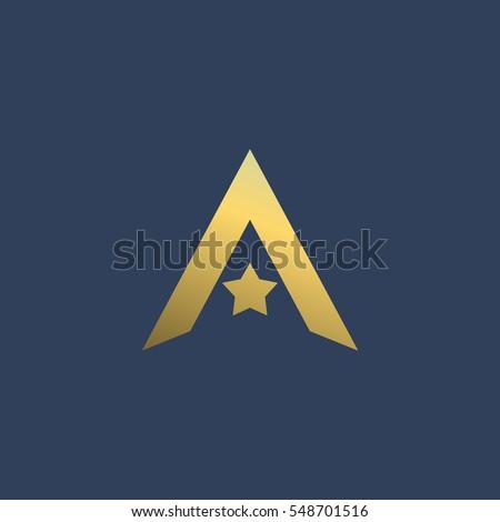 letter star logo icon design template のベクター画像素材