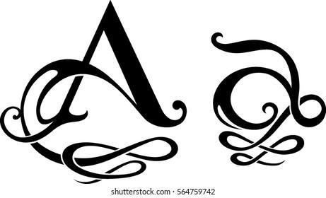 "Letter Stylized ""A"" Monogram Design"