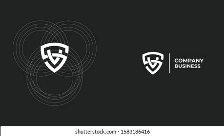 Letter SV  VS professional logo design concept. Vector template