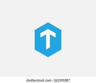 Letter T arrow logo icon vector design