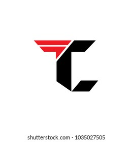 letter t and c logo