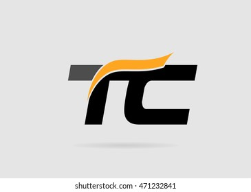 Letter T and C logo template