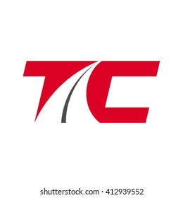 letter t and c logo vector.