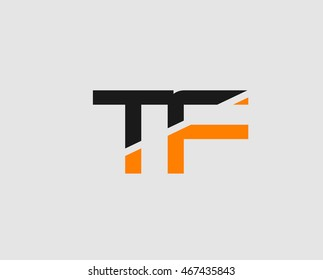 Letter T and F logo template