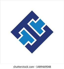 Letter T and H vector logo. Icon Symbol.