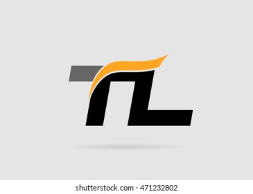 Letter T and L logo template
