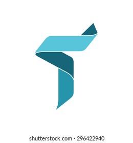 Letter T Logo design template.