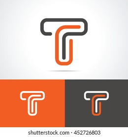 Letter T logo design - vector sign