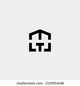 Letter T M TM MT Home Logo Template Vector Design