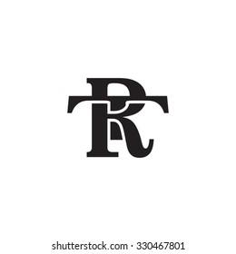 letter T and R monogram logo