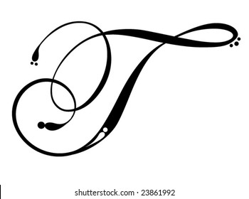 Letter T - Script