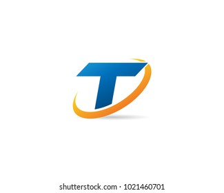Letter T With Swoosh Logo Design