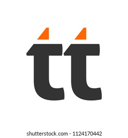letter T and T vector logo