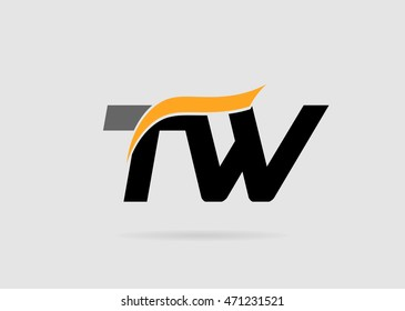 Letter T and W logo template