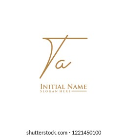 Letter Ta Logo. Initial Letter Design Vector Luxury Colors [Converted]