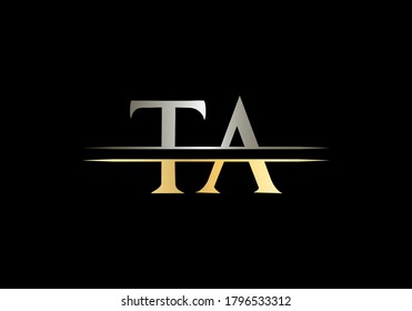 Letter TA Logo Vector Template. TA Letter Linked Logo for business and company identity.