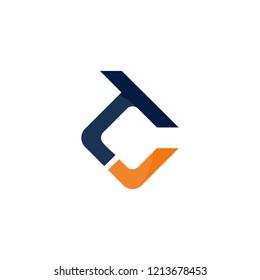 Letter TC Rectangular Creative Abstract Business Logo