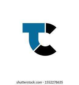 Letter TC simple logo icon design vector