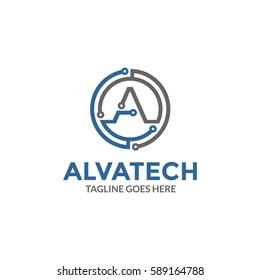 Letter A - Technology Logo