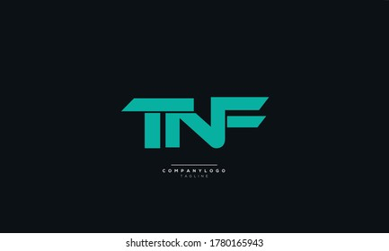 Letter TNF Business Logo Design Icon Alphabet Vector Template