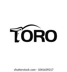 letter TORO vector logo. Bull logo.