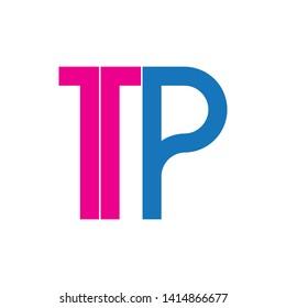 Letter TP logo design vector
