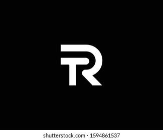Letter TR Logo Design , Minimal TR Monogram in Editable Vector Format